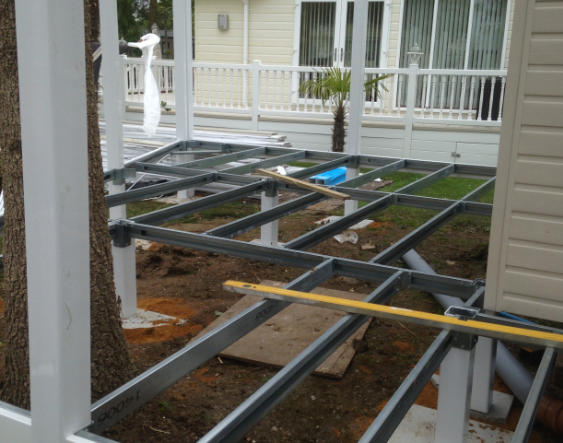 Balcony Frame Construction