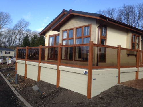 Golden Oak Veranda And Fencing