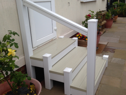 UPVC Holiday Home Steps Kent